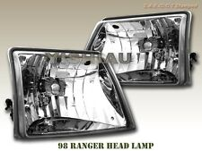 98 99 00 Ford Ranger  Crystal Euro Headlights Head lamp