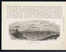 City of Providence  -- RHODE ISLAND - 1872 Page of History Engraving