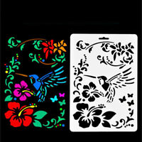 Drawing Stencil Template for DIY Craft Album Stamping Painting Mold #Hummingbird