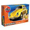 Airfix Quickbuild Volkswagen VW Beetle J6023 Yellow Car Model Kit NEW