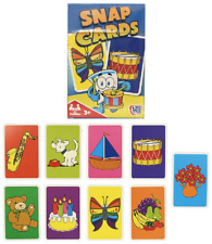HTI SNAP CARDS - 40235 FUN COLOURFUL SIMPLE CARD GAME FOR KIDS TO IMPROVE MEMORY
