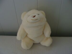 Gund White SNUFFLES Bear 1980 Korea 9 Inches Excellent Condition
