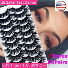 10 Pairs 3D Natural False Eyelashes Long Thick Mixed Fake Eye Lashes Makeup Mink