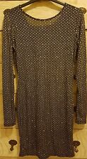 Topshop Black and Silver Dress Size 10