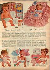 1957 ADVERT Betsy Wetsy Doll Layette Tears Dew Drop Linda Twinkle Tears