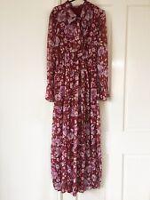 Women Modest Long Sleeve Floral Maxi Dress