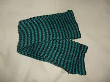Echarpe chaude hiver rayée tricot noir et vert femme ou homme H & M - neuve