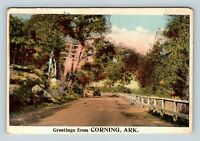 Corning AR, Scenic Greetings, Arkansas, Vintage Postcard Z34