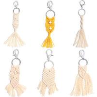 Tassels Macrame Crochet Key Chain Ring Hanging Handmade Boho Pendant Jewelry