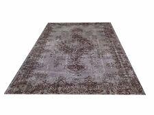 """8' 8"""" x 5'10""""    Vintage destressed light gray color reform Overdyed rug carpet"""