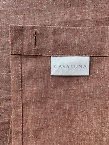 Chambray Shower Curtain Clay - Casaluna Linen Blend 72X72 New Without Tags