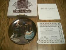 1984 Norman Rockwell Heritage Collection #8 Collector Plate The Storyteller