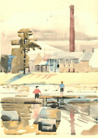 Edith Mary Lawrence (1890-1973) - Signed 1930 Watercolour, The Mill, Langholm