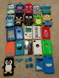 iPod Touch 4th Gen - SOFT SILICONE RUBBER & HARD CASE  Lot Of 22