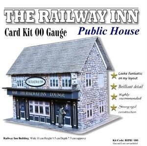 Public House OO Gauge Model Railway Building Card Kit for model makers Crafters