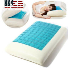 Memory Foam Bed Pillow Cooling Gel Washable Orthopedic CervicalVertebra Sleeping
