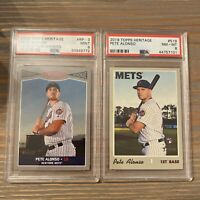 2019 Topps Heritage Pete Alonso Rookie Cards (2), RC, PSA 8 & 9, Mets ⚾️
