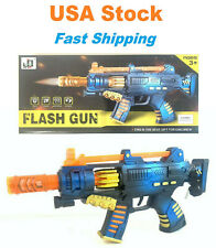Light Up Combat Flash Gun Toy, Battery Operated with Military Sound, 14''