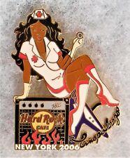HARD ROCK CAFE NEW YORK SEXY NURSE GIRL SITTING ON FLAMING AMPLIFIER PIN # 35059