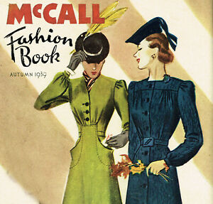 1930s Vintage McCall Fashion Book Fall 1939 Pattern Catalog Ebook Copy on CD