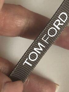 TOM FORD ribbon GREY 11mm AUTHENTIC craft bows diy? embossed designer