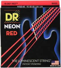 DR Strings Hi-Def Neon Red Bass Medium 5 String 45-125