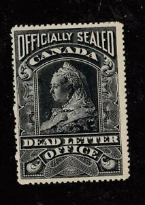 CANADA # OX3 VF-MLH DEAD LETTER OFFICE OFFICIALLY SEAD CAT VALUE $200