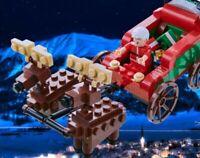 Wilko Blox Santa Sleigh Figure And Reindeer Toy Xmas Christmas gift 6+ blocks