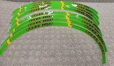 Skin Industries Rim Decals Stickers For Kawasaki KX Color Green