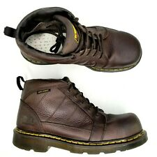 Dr Doc Martens Reactor Safety Toe 5-Eye Leather Boots Mens Size 11 Anti Static