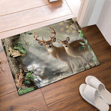 Deer In Foggy Forest Floor Rug Carpet Mat Bathroom Mat Non-slip Pad 40x60cm