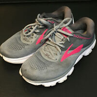 "BROOKS ""Anthem"" Womens Cross Trainer Running Sneakers (US 7.5) Gray/Pink 1202571"