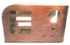 "vintage * PHILCO  38-40T RADIO part: ""WATERFALL"" WOOD SHELL  18""  x  10""  x  11"""