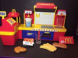 Rare Vintage Mcdonalds Fast Food Play Centre Restaurant Shop Cash Till Dolls