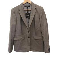 Next Womens Tailored Grey Brown Blazer Jacket Smart Formal 16UK RRP £78