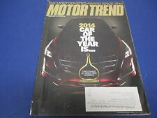 Motor Trend Magazine, January 2014, 2014 Car of The Year Is.....Turbocharged