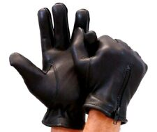 NEW - THINSULATE Men's Leather Driving Gloves w/Zipper Back, NWOT, 3M, XXL,SRP39