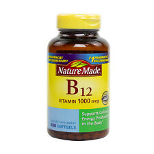 Nature MADE B12 1000 mcg - 400 Softgels FRESH MADE IN USA