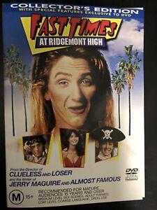FAST TIMES AT RIDGEMONT HIGH DVD Collector's Edition 1982 Sean Penn Region 4