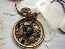 collana moderna fantasia fascino cabochon nero glitter