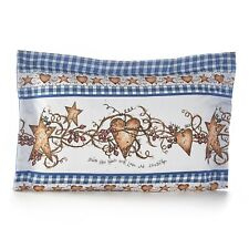 Hearts and Stars Pillow Sham - Farmhouse Pillowcase with Home Sentiment