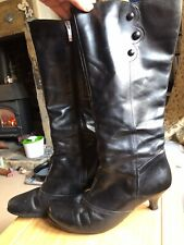 Duo Boots Black Leather 41 8 M Excellent