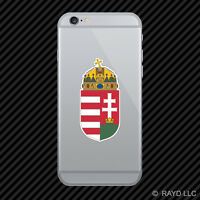 Hungarian Coat of Arms Cell Phone Sticker Mobile Hungary flag HUN HU