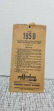 VINTAGE MOSSBERG MODEL 195D 12 GAUGE SHOTGUN GENERAL INSTRUCTIONS PAPERWORK