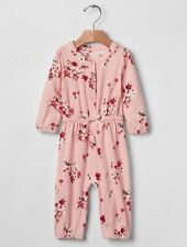GAP Baby Girls Size 0-3 Months NWT Pink Floral Romper One-Piece Bodysuit w/Bow