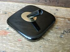Vintage Black Glass Gold Trim GT SHEAFFER 501H Desk Set Base Fort Madison Iowa