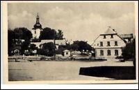 Svätý Kríž Slowakei Postkarte 1949 Teilansicht Dorfpartie Kirche Ceskoslovensko