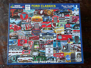 White Mountain Puzzles Ford Classics 1000 Piece Jigsaw Puzzle