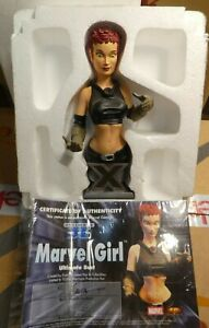 Marvel comics Marvel Girl Diamond  Bust X men  inc COA  statue Figure