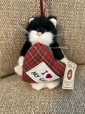 "Boyds Bears Ornament I Love ""Heart"" My Cat Plush Ornament #562732 Nwt 2006 Rare"